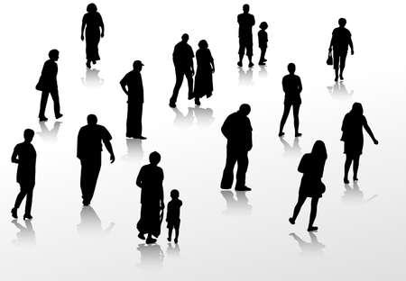 Persone a piedi sagome Archivio Fotografico - 36642796