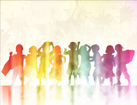 Gelukkige kinderen samen dansen
