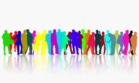 Menschen Silhouetten im Freien Standard-Bild - 38016544