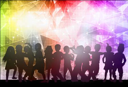 Bambini ballare con sfondo Archivio Fotografico - 39302880
