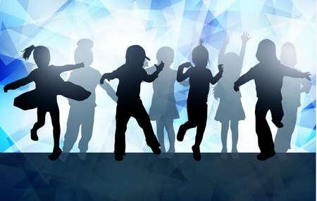 Danza sagome di bambini Archivio Fotografico - 59037210