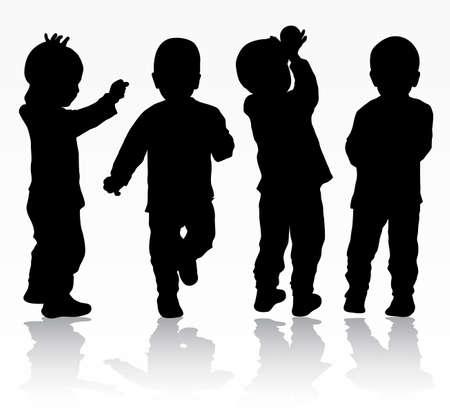 Sagome di bambini  Archivio Fotografico - 59037310