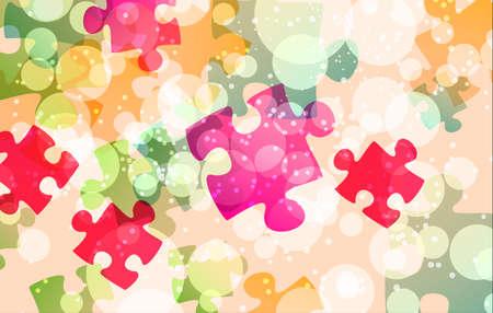 Puzzle di forme di sfondo Archivio Fotografico - 59037308