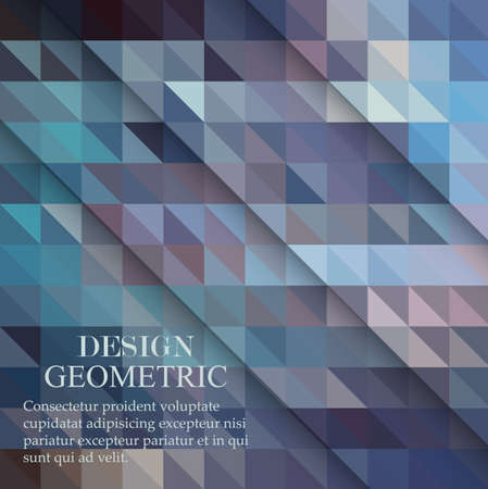 vector geometric abstract background with triangles and lines Vector Illustration