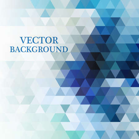 Abstract geometric background with transparent triangles. Vector illustration. Ilustración de vector