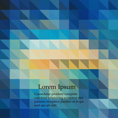 Blue Light Polygonal Mosaic Background, Vector illustration, Business Design Templates Ilustración de vector