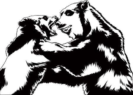 two animals: Bear