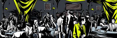 Underground bar Prohibition Vector