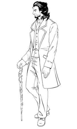 nobleman: Elegante uomo del diciannovesimo secolo. Vintage.