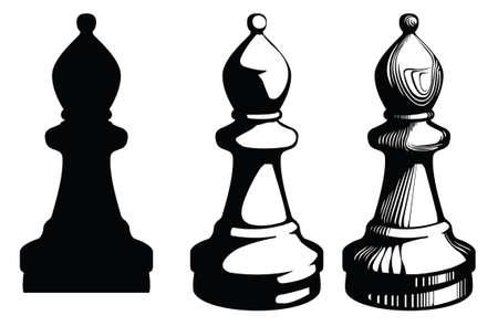 bishop chess piece.Vector illustration