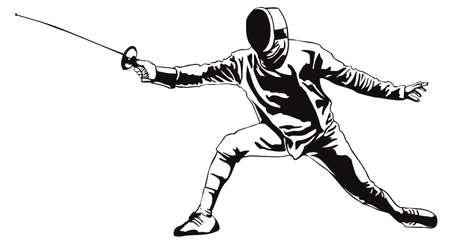 Fencing.Vector illustration