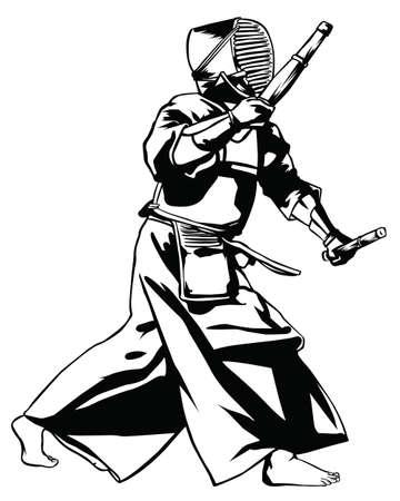 bushido: Kendo.Vector illustration