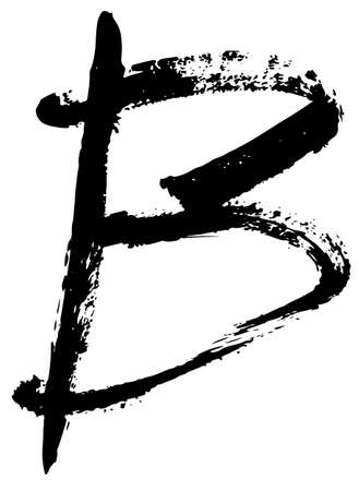 Handwritten acrylic alphabet  isolated on white