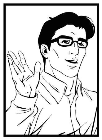 Comics art man Illustration