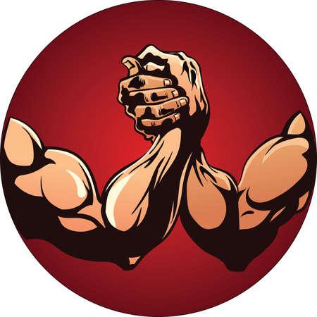 Arm Wrestling Vektorové ilustrace