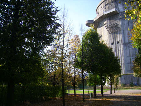 Flak tower in Augarten, Vienna