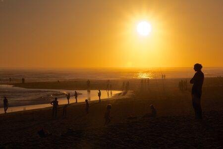 Sunset on the beach Reklamní fotografie