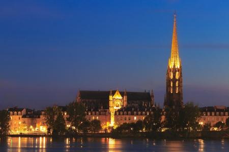 st michel: Twilight at st Michel, Bordeaux, France