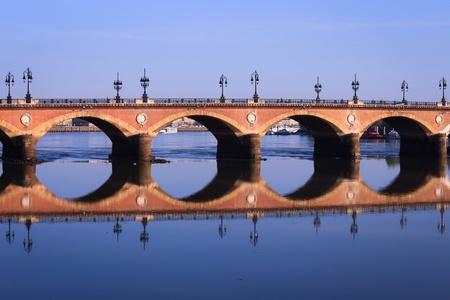 Pont de Pierre bridge, Bordeaux,France