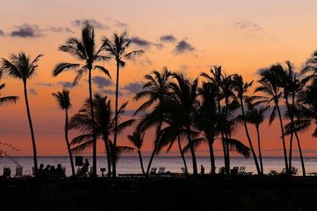 Sunset on the beach, Hawaii