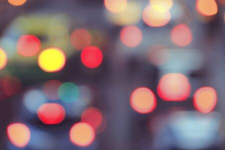 abstract: Abstract city traffic lights bokeh background