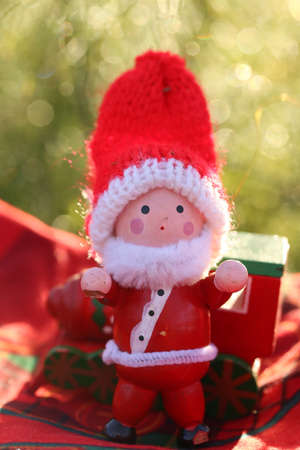 doll: Santa Claus doll with Bokeh background