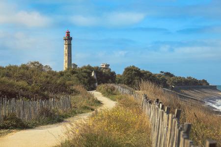 選択と集中、古い Phare des Baleines 灯台イル ・ ド ・ レ、フランスに
