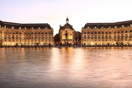 Place De La Bourse, 보르도, 프랑스 스톡 콘텐츠
