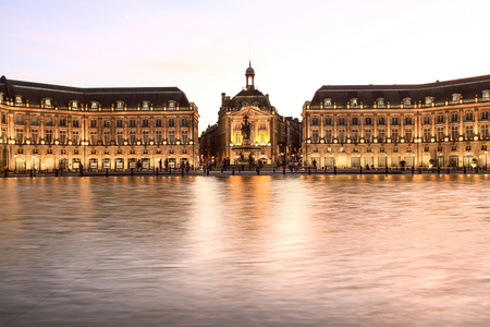 Place De La Bourse in Bordeaux, France Imagens