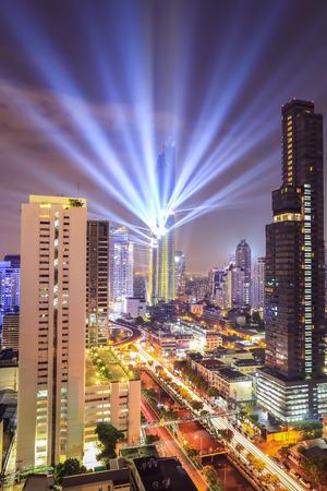 Aerial view of Bangkok modern office buildings, condominium, living place in Bangkok city Imagens