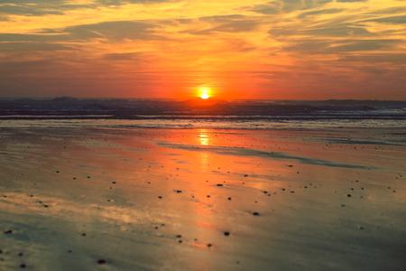 Tropical sunset on the beach