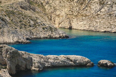 Calanque National Park Coast by the Mediterranean Sea stretching between Marseilles and Cassis, Provence France
