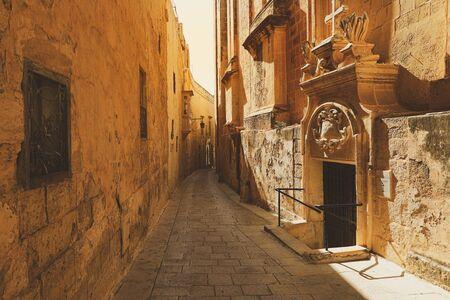 Narrow street in the old town of Rabat , Malta