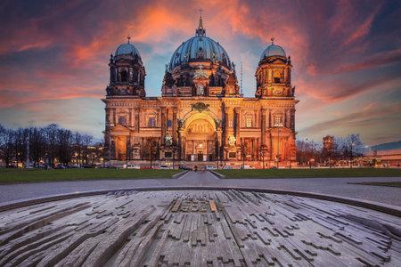 Berlin Cathedral, Berliner Dom at night, Berlin, Germany Stock fotó