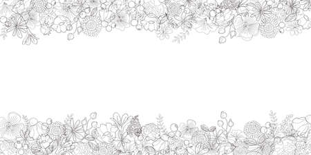 Line Art texture Abstract Flower Background Stock fotó - 155339481