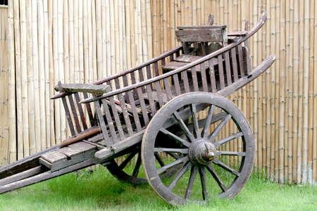 bullock animal: Cart Thai past