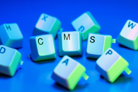 cms: cms content management system - written with keyboard keys Stock Photo