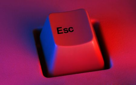 esc: Escape Esc (escape keyboard key) Stock Photo