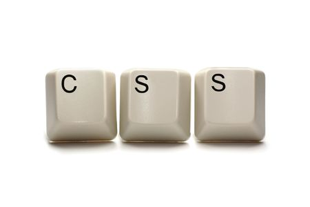 cascading style sheets: css - cascading style sheet - computer keyboard keys, isolated on white