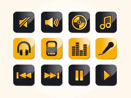 audio & music icons and symbols