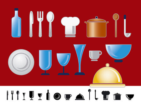 casserole: dinner and kitchen icons