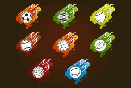 Sport balls illustrations and symbols Vector