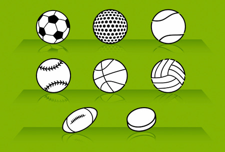 pelota de beisbol: Deporte bolas en verde