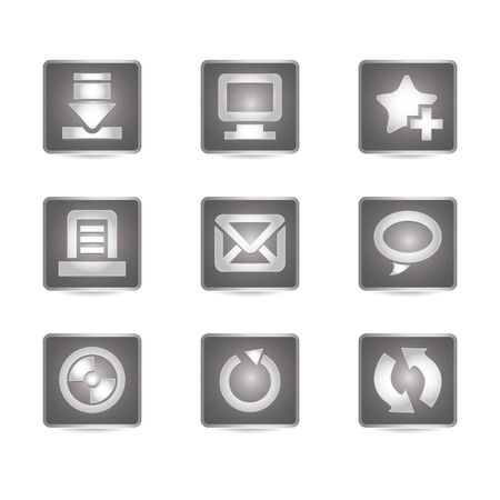 Gray Icon Set - Websites & Blogs Buttons #2  Stock Vector - 4141728