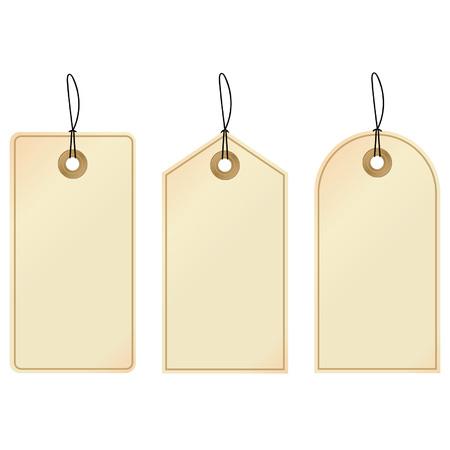 elegant vector: Tag - set di tre etichette decorative.