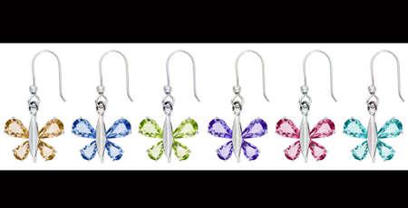Butterfly earrings jewelry Imagens