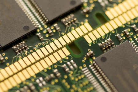 Closeup of 2 RAM chips Stock fotó