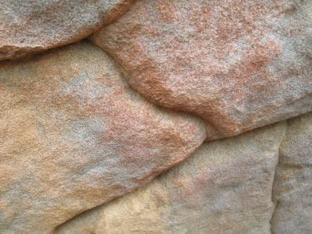 rock formation: Colorful sandstone rock formation chiseled by the elements.