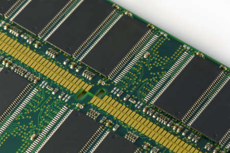 Close up of 2 computer RAM chips