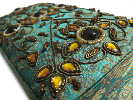 third world: An ornate jewelry box from a third world country.